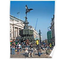 The Statue of Eros: Piccadily Circus, London, UK. Poster