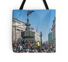 The Statue of Eros: Piccadily Circus, London, UK. Tote Bag