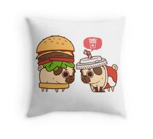 Puglie Burger and Drink Throw Pillow
