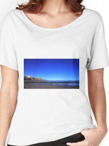 Southport Beach under a South Australian night sky Women's Relaxed Fit T-Shirt