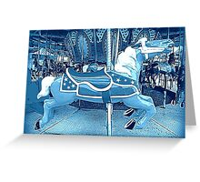 Flying Horsey Of The Moonlight Carousel  Greeting Card