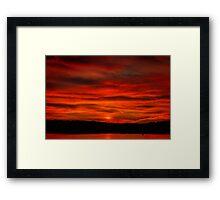 Dusk Burning Sunrise Framed Print