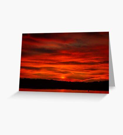 Dusk Burning Sunrise Greeting Card