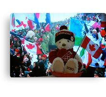 """Little Canucky """"Strikes Olympic Gold""""! Canvas Print"""