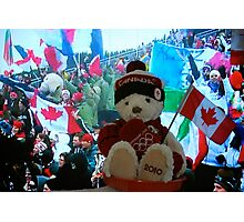"""Little Canucky """"Strikes Olympic Gold""""! Photographic Print"""