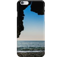 Charlestown Beach Cave,South Cornwall iPhone Case/Skin