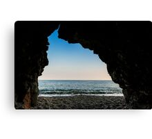 Charlestown Beach Cave,South Cornwall Canvas Print