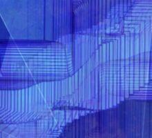 computer generated landscape (blue) Sticker