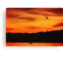 Swimming in Sunset Skies Canvas Print