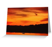 Swimming in Sunset Skies Greeting Card