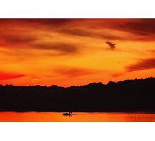 Swimming in Sunset Skies Photographic Print