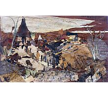 Temples on Hill Photographic Print