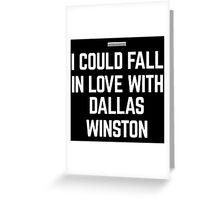 I HEART DALLAS WINSTON Greeting Card