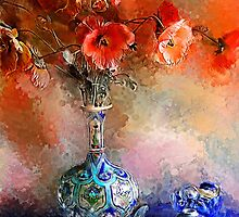 Poppies and Glass Marbles by © Helen Chierego