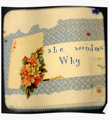 she wonders why? Poster