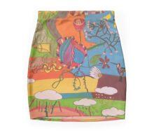 Humming bird in a sunny storm  Mini Skirt