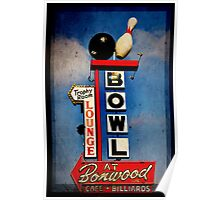 Bowling Sign Poster