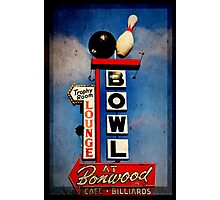 Bowling Sign Photographic Print