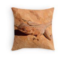 Desert Lizard Throw Pillow
