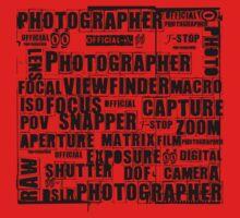 Photographer T-shirt One Piece - Short Sleeve