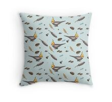 Seeds and Things -- Cockatiel Throw Pillow