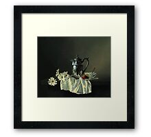 Game of silk and silver with a red strawberry Framed Print