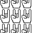 8-bit Rock Sign by nery16