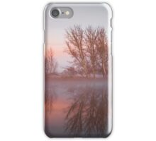 Sunrise over the  Molonglo  River Canberra  iPhone Case/Skin