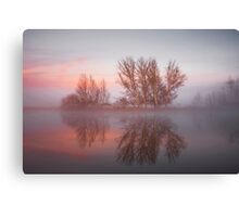 Sunrise over the  Molonglo  River Canberra  Canvas Print