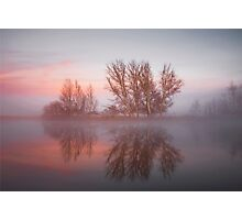 Sunrise over the  Molonglo  River Canberra  Photographic Print
