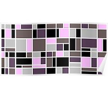 Retro Blocks in Plum Poster