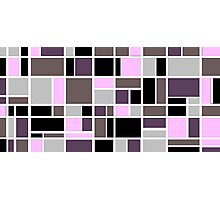 Retro Blocks in Plum Photographic Print
