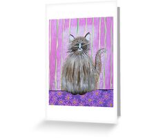 Fluffy Cat Greeting Card