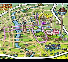 Downtown San Antonio CARD by Kevin Middleton