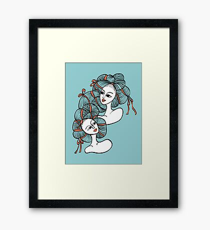 Ramen Girls Framed Print