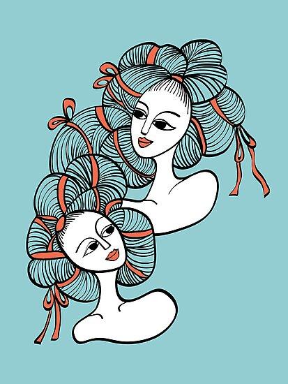 Ramen Girls by littlearty