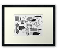 Geometric Expressions-Available As Art Prints-Mugs,Cases,Duvets,T Shirts,Stickers,etc Framed Print