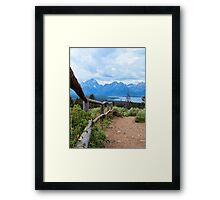 Path To The Tetons Framed Print