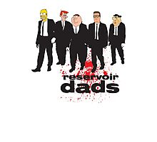 Reservoir Dads (Reservoir Dogs + Family Guy + Simpsons + King of the Hill + Flintstones + Jetsons mashup) Photographic Print