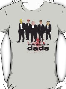 Reservoir Dads (Reservoir Dogs + Family Guy + Simpsons + King of the Hill + Flintstones + Jetsons mashup) T-Shirt