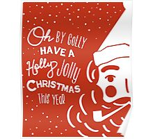 Holly Jolly Christmas Poster  Poster
