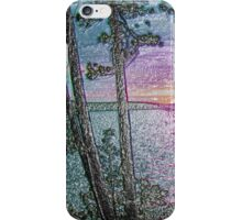 Lake Sunset-Colour Embossed -Available As Art Prints-Mugs,Cases,Duvets,T Shirts,Stickers,etc iPhone Case/Skin
