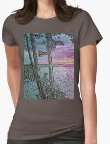 Lake Sunset-Colour Embossed -Available As Art Prints-Mugs,Cases,Duvets,T Shirts,Stickers,etc T-Shirt