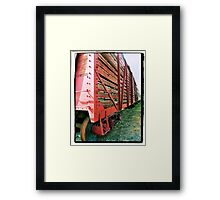 Old Train Car Framed Print