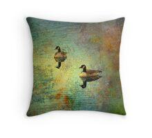 The Monday Geese Throw Pillow