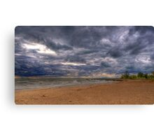 Thunderstorm over Lake Huron Canvas Print