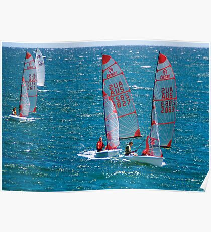 Racing in the wind. Poster