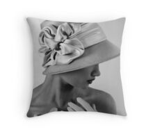 Affectedly Shy Throw Pillow