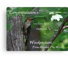 Male Red-bellied Woodpecker ~ Melanerpes carolinus  Banner Canvas Print