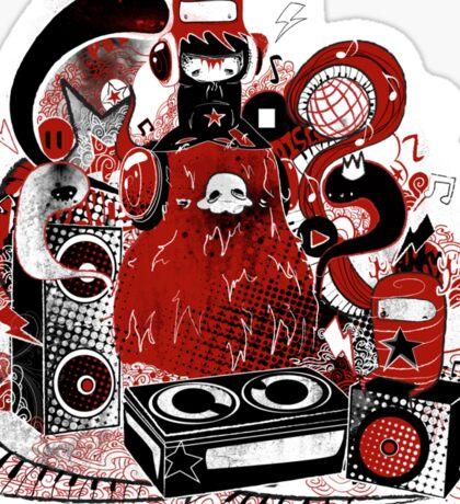 Music Monster Sticker